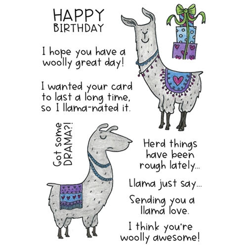Inky Antics LOVELY LLAMAS Clear Stamp Set 11432mc Preview Image
