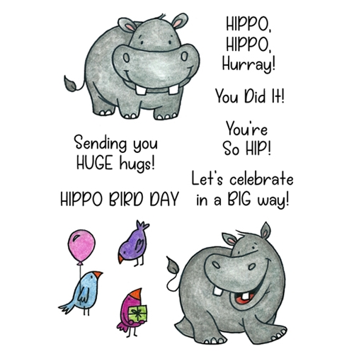 Inky Antics HAPPY HIPPOS Clear Stamp Set 11434mc Preview Image