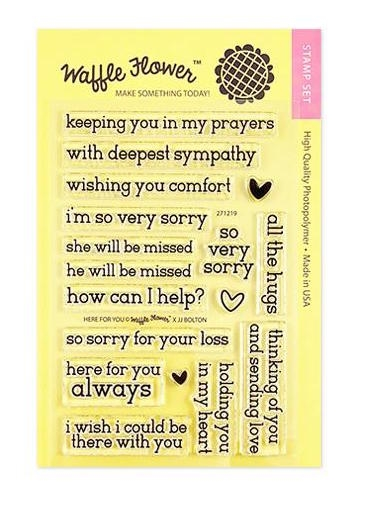 Waffle Flower HERE FOR YOU Clear Stamps 271219 zoom image