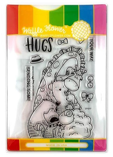 Waffle Flower GROUP HUGS COMBO Clear Stamp and Die Set WFC217 zoom image