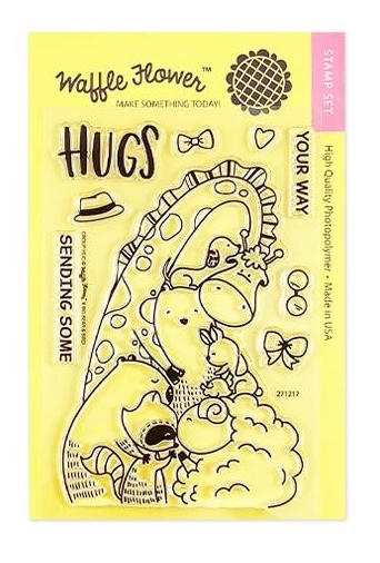 Waffle Flower GROUP HUG Clear Stamps 271217 zoom image