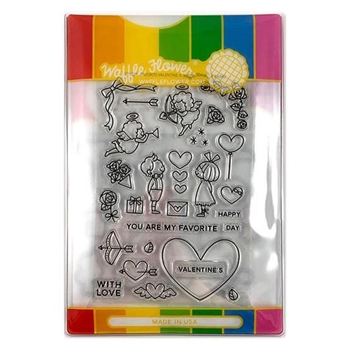 Waffle Flower FAVORITE VALENTINE COMBO Clear Stamp and Die Set WFC220