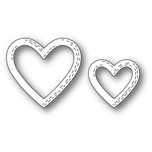 Poppy Stamps WHITTLE HEART FRAMES Craft Die 2164 Preview Image