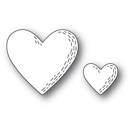 Poppy Stamps WHITTLE HEARTS Craft Die 2161 Preview Image