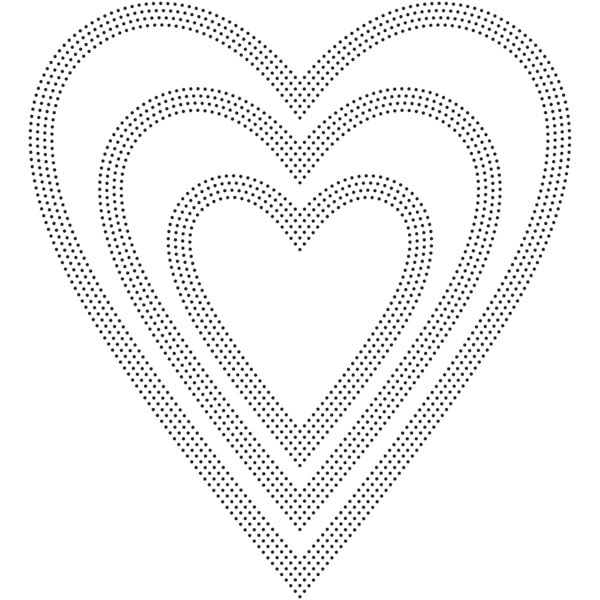 Poppy Stamps PINPOINT HEARTS Craft Die 2162 zoom image
