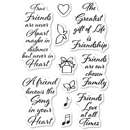 Poppy Stamps Clear Stamps LOVE AND FRIENDSHIP cl474 Preview Image