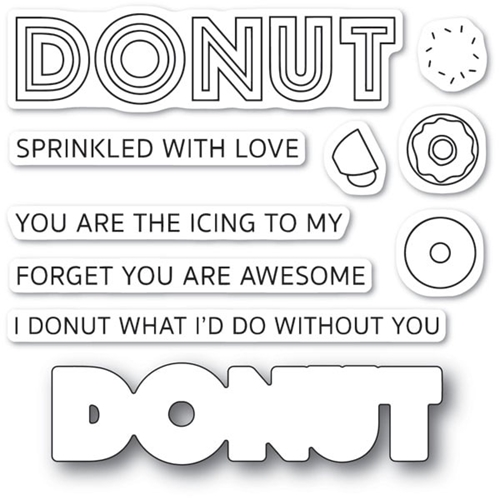Poppy Stamps DONUT WHAT I'D DO Die and Stamp Set cl475 Preview Image