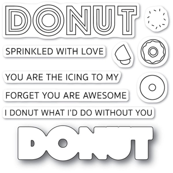 Poppy Stamps DONUT WHAT I'D DO Die and Stamp Set cl475