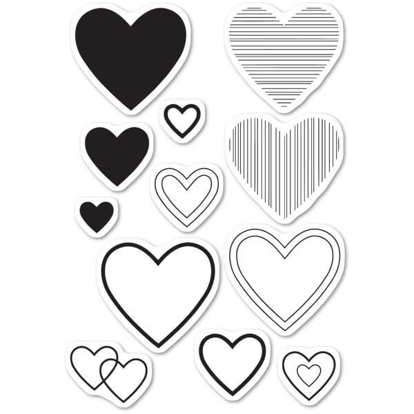 Memory Box Clear Stamps HAVE A HEART cl5238 zoom image