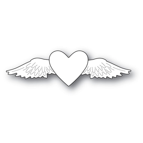 Memory Box WINGED HEART Craft Die 94108 Preview Image