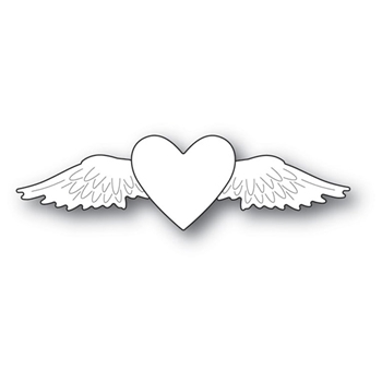 Memory Box WINGED HEART Craft Die 94108