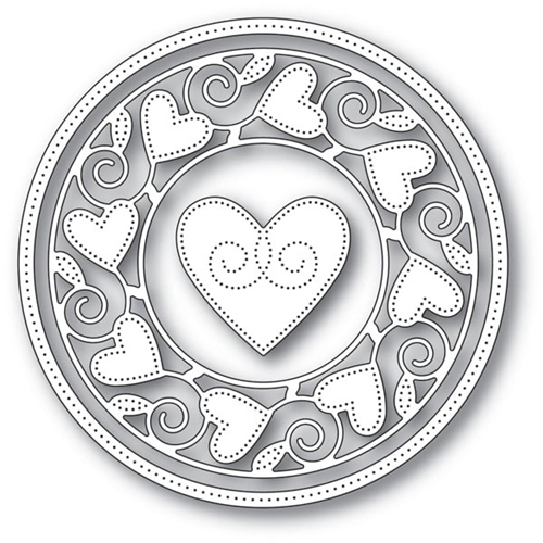 Memory Box PINPOINT HEART CIRCLE FRAME Craft Dies 94106 Preview Image