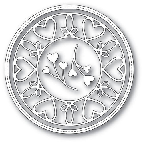 Memory Box SCROLLWORK HEART CIRCLE FRAME Craft Dies 94114 Preview Image
