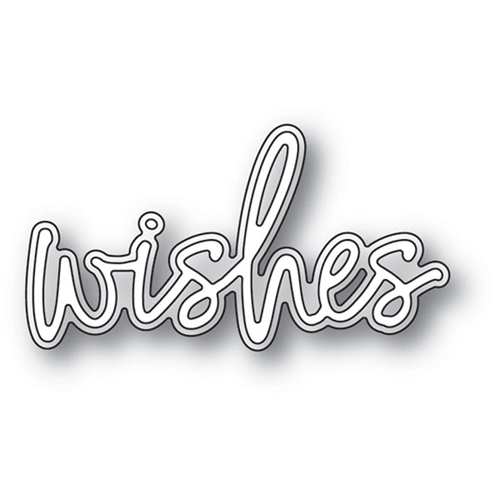 Memory Box WISHES JOTTED SCRIPT Craft Dies 94122 Preview Image