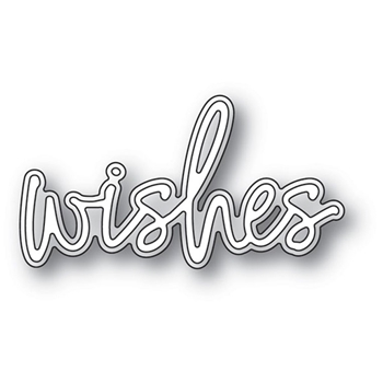 Memory Box WISHES JOTTED SCRIPT Craft Dies 94122