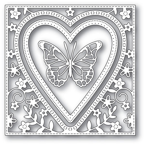 Memory Box BUTTERFLY HEART FRAME Craft Dies 94110 Preview Image