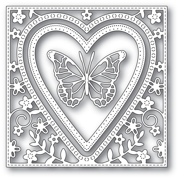 Memory Box BUTTERFLY HEART FRAME Craft Dies 94110 zoom image