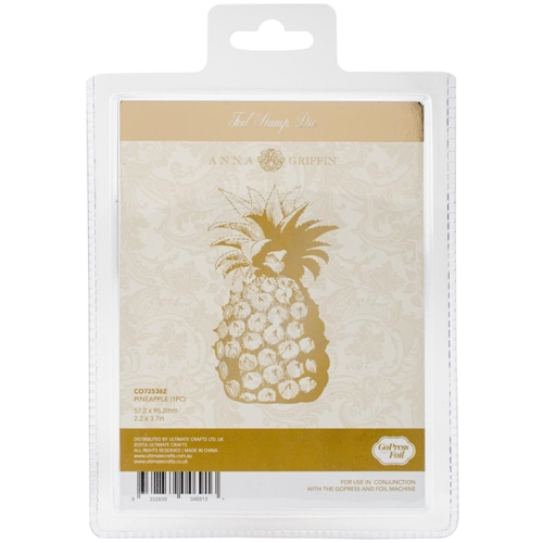Couture Creations PINEAPPLE Hotfoil Stamp Anna Griffin co725362 Preview Image
