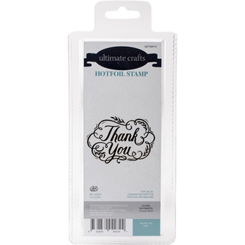 Couture Creations THANK YOU Hotfoil Stamp Ultimate Crafts ult158117