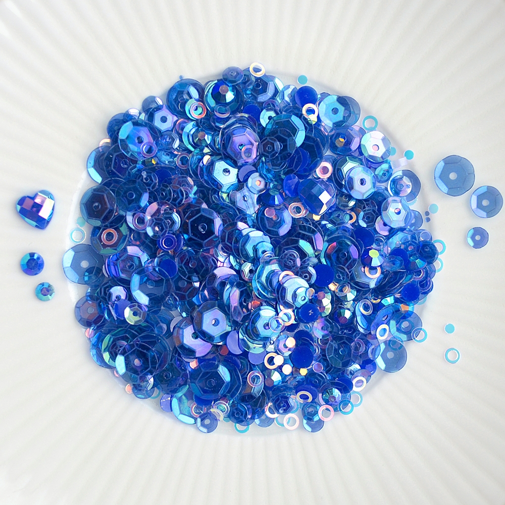 Little Things From Lucy's Cards BLUEBIRD Sparkly Shaker Mix LB198 zoom image