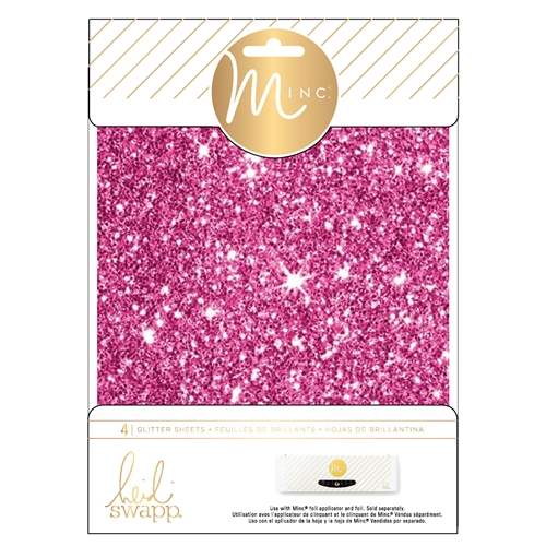 Heidi Swapp PINK MINC 6 x 8 Glitter Sheets 314484 Preview Image