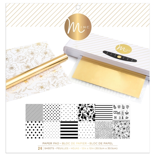 Heidi Swapp WHITE MINC 12 x 12 Reactive Paper Pad 314486 Preview Image
