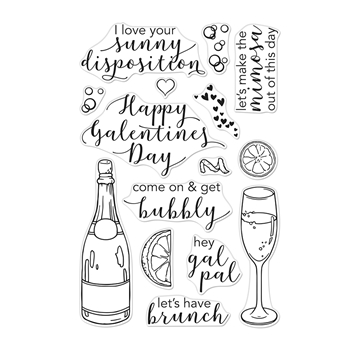 Hero Arts Clear Stamps GAL PAL BRUNCH CM334