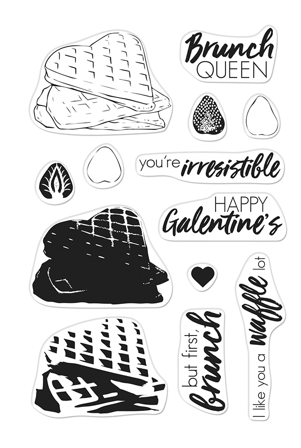Hero Arts Clear Stamps Color Layering WAFFLES CM330 zoom image