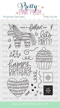 Pretty Pink Posh PINATA PARTY Clear Stamps Preview Image