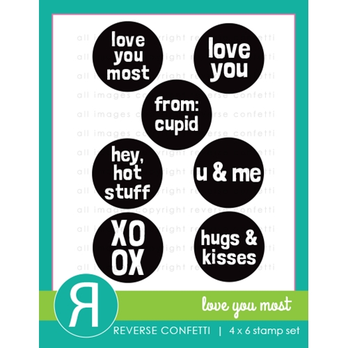 Reverse Confetti LOVE YOU MOST Clear Stamps Preview Image