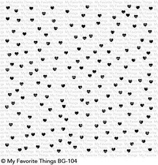 My Favorite Things SCATTERED HEARTS BACKGROUND Cling Stamp MFT BG104