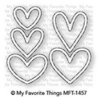 My Favorite Things LOTS OF HEARTS OUTLINES Die-Namics MFT1457