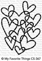My Favorite Things HEARTS ENTWINED Clear Stamps CS367 zoom image
