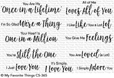 My Favorite Things SWEET NOTHINGS Clear Stamps CS365 Preview Image