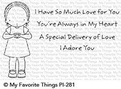 Pure Innocence SO MUCH LOVE Clear Stamps MFT PI281 zoom image