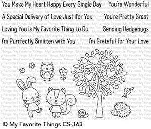 My Favorite Things WONDERFUL WOODLAND FRIENDS Clear Stamps CS363