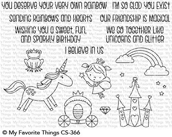 My Favorite Things RAINBOWS AND UNICORNS Clear Stamps CS366