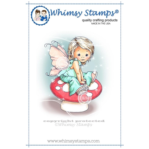 Whimsy Stamps YOUNG SPRING FAIRY Cling Stamp C1109 Preview Image