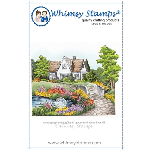 Whimsy Stamps SUMMER COTTAGE Cling Stamp DA1102 Preview Image