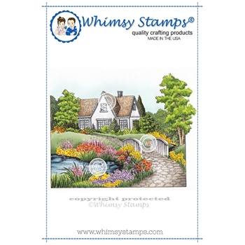 Whimsy Stamps SUMMER COTTAGE Cling Stamp DA1102