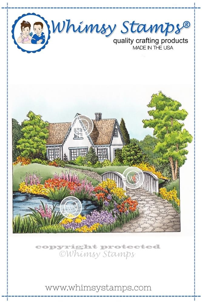Whimsy Stamps SUMMER COTTAGE Cling Stamp DA1102 zoom image