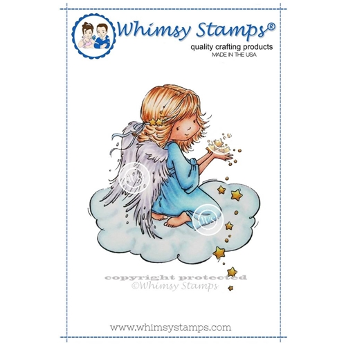 Whimsy Stamps ANGEL CELESTE Cling Stamp MR128 Preview Image