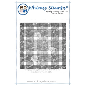 Whimsy Stamps BUFFALO PLAID BACKGROUND Cling Stamp DDB0018