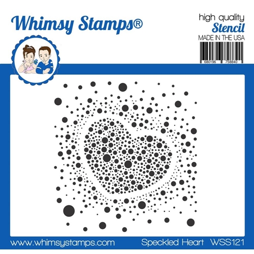 Whimsy Stamps SPECKLED HEART Stencil WSS121 Preview Image