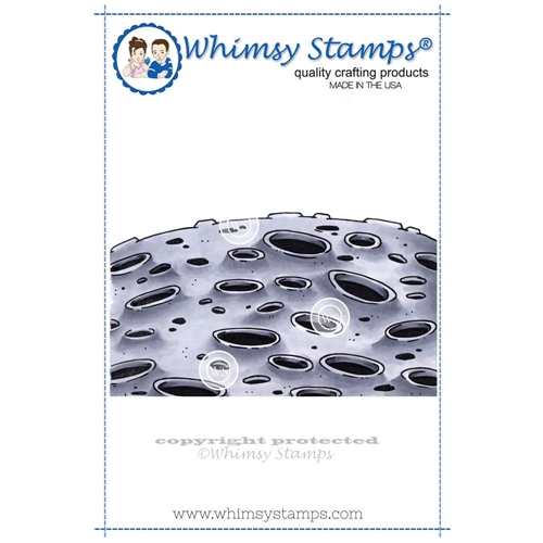 Whimsy Stamps MOON BACKGROUND Cling Stamp DP1001 Preview Image