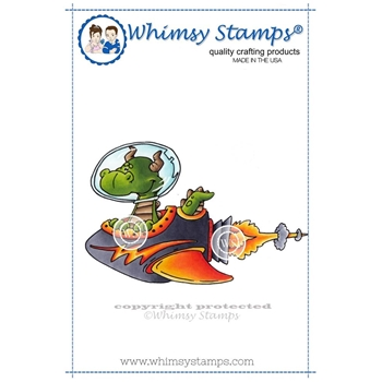 Whimsy Stamps SPACE DRAGON Cling Stamp DP1000