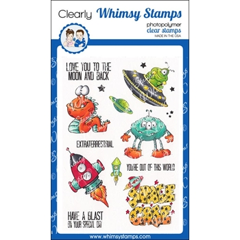 Whimsy Stamps A BOY'S DREAM Clear Stamps DP1002