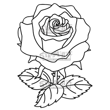 Stamplistic Cling Stamp THE ROSE j190101