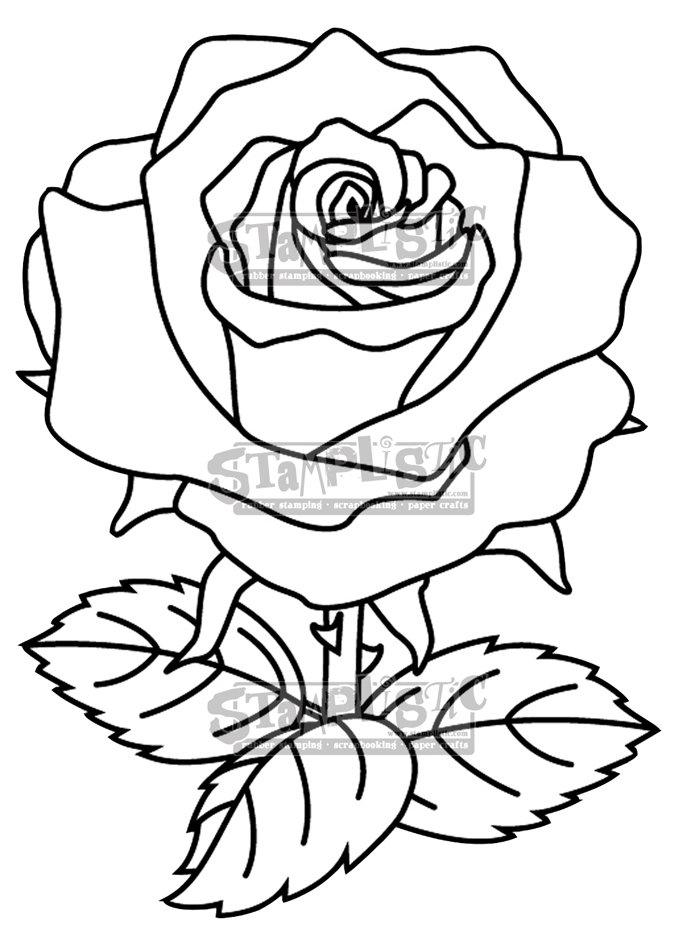 Stamplistic Cling Stamp THE ROSE j190101 zoom image
