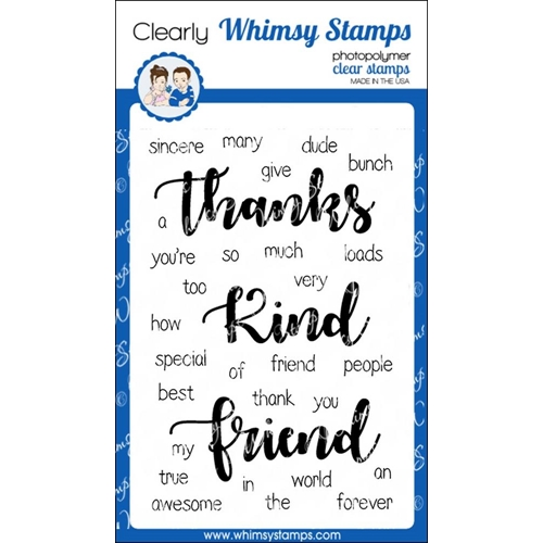 Whimsy Stamps YOU'RE TOO KIND Clear Stamps CWSD222 Preview Image